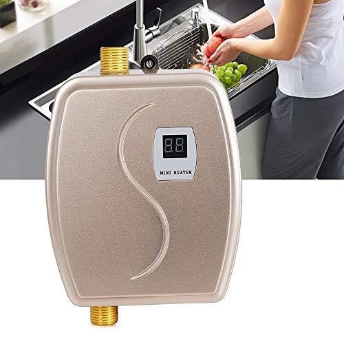 3800W Durchlauferhitzer Mini Elektrische Tankless Warmwasserbereiter für Home Bad Küche Waschen, 35-45 ℃, IPX4 Wasserdicht, Trockenheizungsschutz und Übertemperaturabschaltung