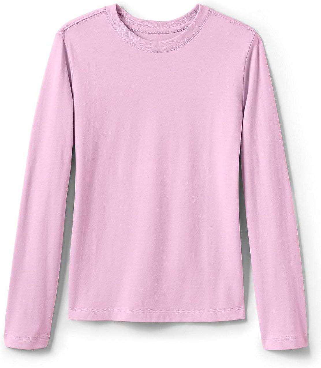 Lands' End School Uniform Girls Long Essential Atlanta Mall Spasm price Sleeve T-Shirt