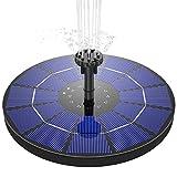 ソーラーポンプ AISITIN ソーラー噴水ポンプ 5V 3.5W ガーデン用噴水 丸型太陽噴水ポンプ 屋外 太陽光充電 1500mAhバッテリー付き 水面に設置 酸素供給 水循環 内蔵バッテリー ウォーターポンプ ノズル6つ付き 水槽 プール用 池 バードバス 庭の装飾用 ガーデン用 (蓄電式)