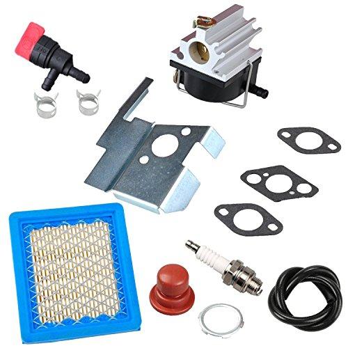 OxoxO 632671Vergaser Carb Kit Air Filter Zündkerze Primerpumpe Kraftstoff Absperrventil für Tecumseh 632671A 632671b 632671C vlv126vlv60vlv40Toro Handwerker Rasenmäher Ersatzteile