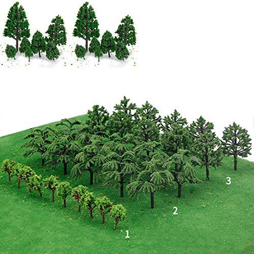 gotyou 30 Pezzi Alberi Modello, Mini Verde Succlent Plant Pot Decor, Albero Modello Miniatura Alberi Treno ad Modello Misto Albero del Diorama Alberi Architettura per Fai da Te Paesaggio