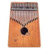 Kalimba 17 Keys Thumb Finger Piano - Mbira - Solid Mahogany and Portable with Carrying Bag and Instructions