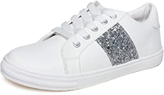 Vendoz Women Casual White Sneaker Shoes
