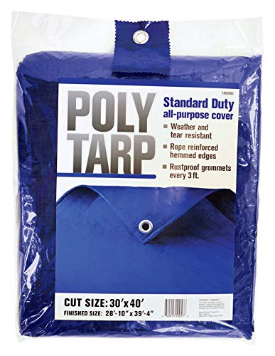 Projex 30 ft. W x 40 ft. L Light Duty Polyethylene Tarp Blue
