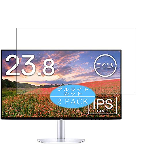 VacFun 2 Piezas Filtro Luz Azul Protector de Pantalla Compatible con DELL Monitor 23.8' S2419H, Screen Protector Película...