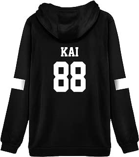 Kpop EXO Hoodie Sweater Xiumin Suho Lay Baekhyun Chanyeol Sehun Kai Jacket Pullover