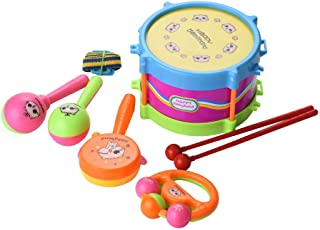 Children Musical Instrument Toys,Mosunx Toys 3 Years Old 5Pcs Kids Baby Drum Musical Instruments Band Kit Children Early Educational Toy (Colorful)