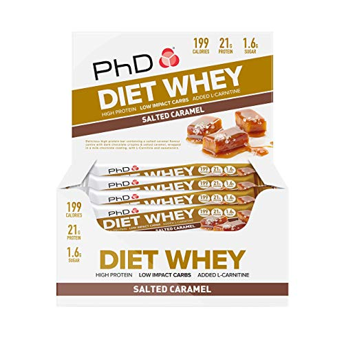 PhD Nutrition Diet Whey Bars, Salted Caramel(Pack of 12)