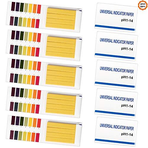 Yangfei 800 Stück pH Teststreifen, Lackmus Teststreifen pH-Wert-Bereich 1-14 für Wassertest Pool Aquarium Boden Untersuchungen Labor PH Indikator Teststreifen mit Kontrollkarte fruchtwasser