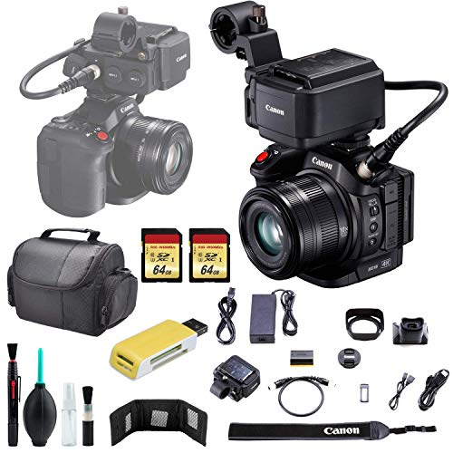 Learn More About Canon XC15 4K Pro Camcorder + Carrying Case + USB Card Reader- 64GB SD x2