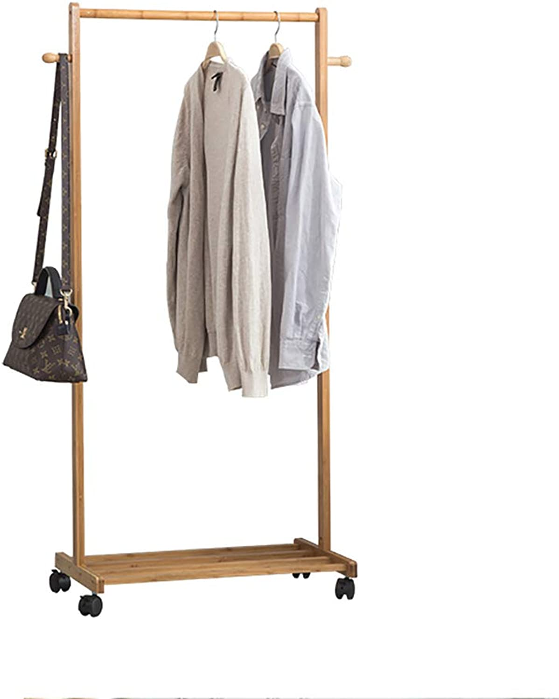DQMSB Coat Rack Hanger Bamboo Bamboo Floor Hanger Bedroom Living Room Coat Racks (Size   80  38  133cm)