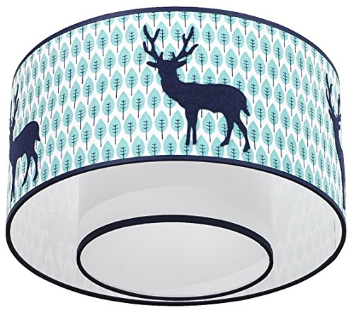 Taftan LPC-603 plafondlamp hert, diameter 35 cm, blauw