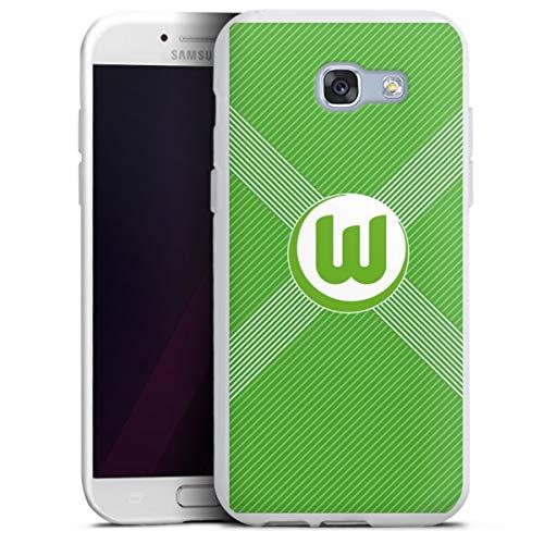 DeinDesign Silikon Hülle kompatibel mit Samsung Galaxy A5 (2017) Case weiß Handyhülle VFL Wolfsburg Trikot Fanartikel