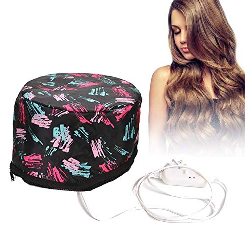 Electric Hair Cap Thermal Cap Deep Conditioning Natural Hair Scalp Treatment Spa Hot Head Care Electric for Home Use