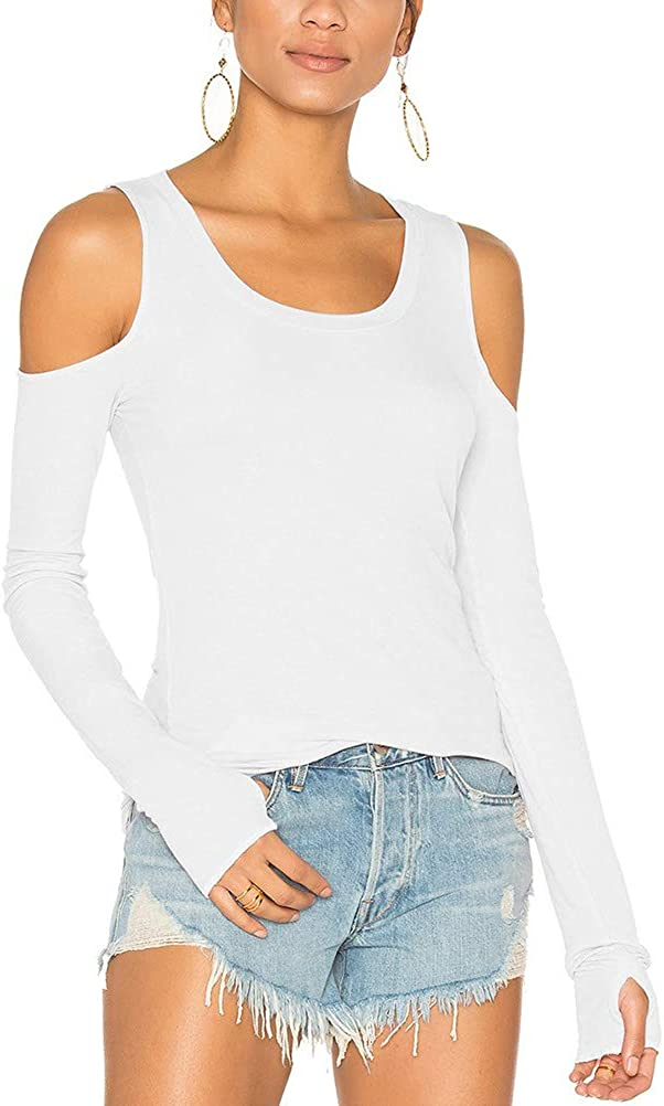 Mippo Cold Shoulder Tops Brand new for Women Sleeve Long Yoga 5 popular Workout Tuni