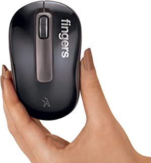 Finger's GlassPro M2 Wireless Mouse -Works on Glass Too (Black and Coffee Brown)