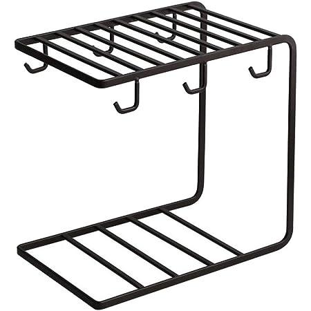 Fdit 6 pezzi Tazze e kit rack in acciaio inossidabile Tazza da caff/è a doppia parete in acciaio inossidabile di alta qualit/à con impugnatura comoda Tazza da caff/è in acciaio inossidabile