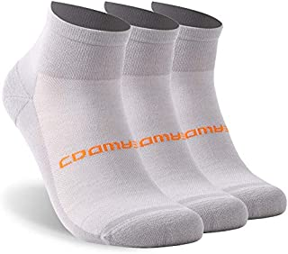Athletic Running Socks, ZEALWOOD Unisex Merino Wool Anti-blister Cushion Hiking Socks,1/3 Pairs