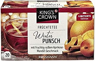 King`s Crown Tea: Winter Punch Apricot Almond 20 tea bags Made in Germany