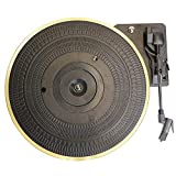 Semoic Placa Giratoria de Metal de 28 Cm 33/45/78 RPM Brazo Recto AutomáTico Retorno Reproductor de Discos Tocadiscos GramóFono para Reproductor de Discos de Vinilo LP