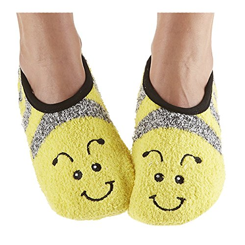 Snoozies Womens Mary Jane Fuzzy Animal Socks | Cat
