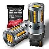 TUINCYN 7440 7440NA Lampadina LED CANBUS Free Ambra WY21W T20 Indicatori di direzione Luce Resistenza di carico integrata Anti Hyper Flash Codice di errore Lampeggiatori (confezione da 2)