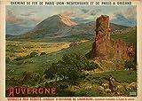 Chemins Eisen Auvergne Poster Reproduktion – Format 50 x