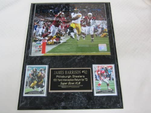 James Harrison Pittsburgh Steelers Super Bowl Touchdown 2 Card Collector Plaque w 8x10 Photo product image