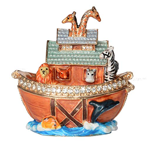 Minihouse Noah's Ark Treasured Trinket Jewelry Box Decorative Keepsake Ornament Collectible Creative Gifts