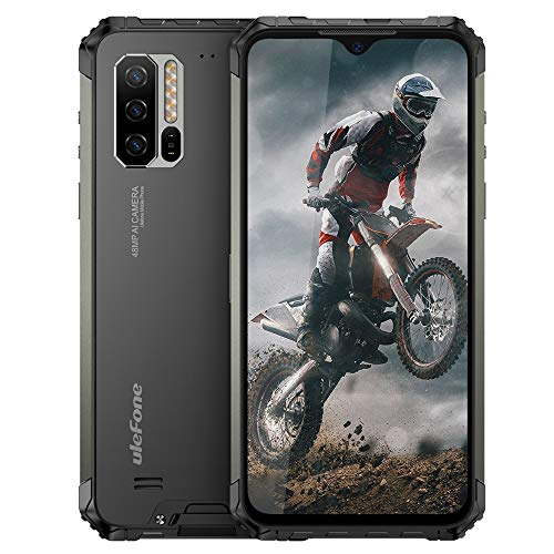 "Ulefone Armor 7 (2021) Rugged Cell Phones Unlocked, 8GB+128GB Octa-Core Android 9.0 IP68 Waterproof Smartphone, 48MP Triple Rear Camera 6.3"" FHD+ Screen 5500mAh Battery Dual SIM 4G LTE Rugged Phone"