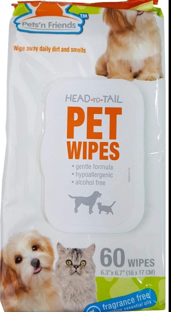 P F Pets N' Friends San Diego Mall Hypoallergenic for Head-to-Tail Outlet ☆ Free Shipping Cats Wipes