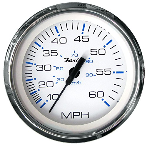 Find Bargain The Excellent Quality Faria Chesapeake White SS 4 Speedometer - 60MPH (Mechanical)