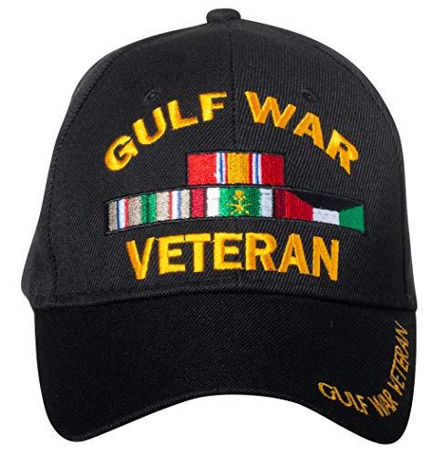 Artisan Owl Gulf War Veteran Embroidered Black Adjustable Baseball Cap