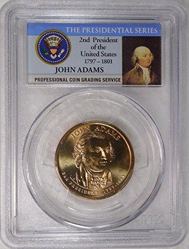 2008 P Pos. B John Quincy Adams Presidential Dollar PCGS MS 66...