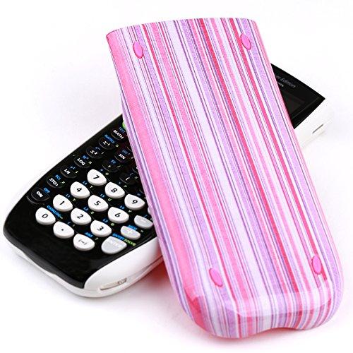 Guerrilla Hard Slide Case-Cover for TI-84 Plus, TI 84-Plus C Silver Edition, TI-89 Titanium Graphing Calculator, Pink Stripe Photo #4