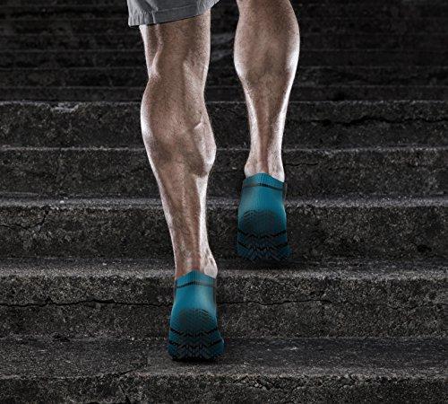 Men's & Women's Blue No-Slip No Show Grip Tread Hospital & Yoga Socks