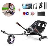 FLy Hoverkart Go Kart Asiento Ajustable Kart De Drift con Suspensión para 6,5 8 10 Pulgadas Hoverboard Accesorios Smart Electric Scooter + Un Conjunto De Equipo De Protección
