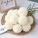 Homyu Artificial Flowers Chrysanthemum Ball Flowers Bouquet 10pcs Present for Important Pe...