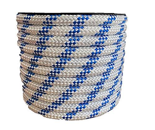 CORDAMARKET 10mm Cuerda driza, Adultos Unisex, Blanca, 25mts