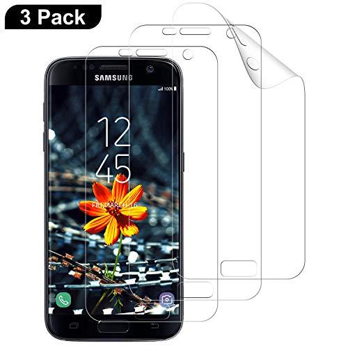 DOSMUNG Schutzfolie Kompatibel mit Samsung Galaxy S7, [3 Pack] Full Cover HD Weich Folie Anti-Kratzer TPU Displayschutzfolie für Samsung Galaxy S7 (Nicht Panzerglas)