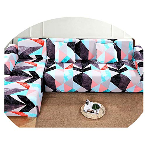 1/2 Pieces Sofa Cover Set Geometric Couch Cover Elastic Sofa Cover For Living Room Pets Corner L Shaped Chaise Longue Sofa Cover Color 2 1seater and 1seater