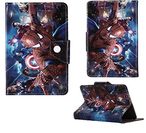 Disney Peppa Unicorn Heroes Kids Tablet Cover For Samsung Galaxy Tab A New Case (Samsung Galaxy Tab A 10.1' P580 P585, Spiderman With Avengers)