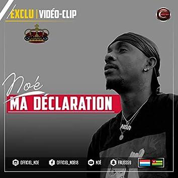 Ma declaration