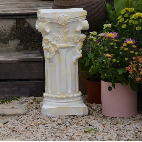 Hausgarten Dekoration Engel römische Säule Wasserdichtes Magnesiumoxid für Außenhof Balkon Ornament B ~ 25 * 25 * 45CM