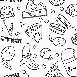 SCHÖNER LEBEN. Baumwollstoff Ausmalstoff MIAM Muffin Obst