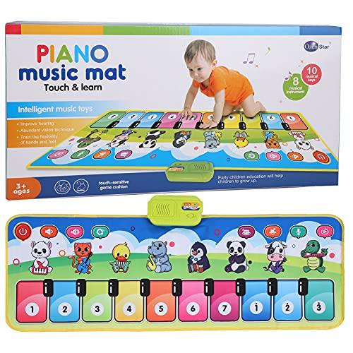 Lucaic Alfombrilla de Piano para Niños Alfombrilla Musical para Teclado Alfombrilla de Música con 8 Sonidos de Instrumentos Alfombrilla de Juguetes de Regalo para Niños ( 39. 5X14 )
