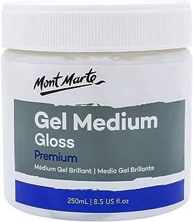 Mont Marte Premium Gel Medium Gloss 8.5oz (250ml), Suitable for Acrylic Paints