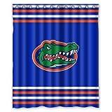 Custom Flawless Gorgeous Creative Florida Gators Polyester Fabric Waterproof Bathroom Bath Shower Curtains Sets with Hooks 72X 72 Inch