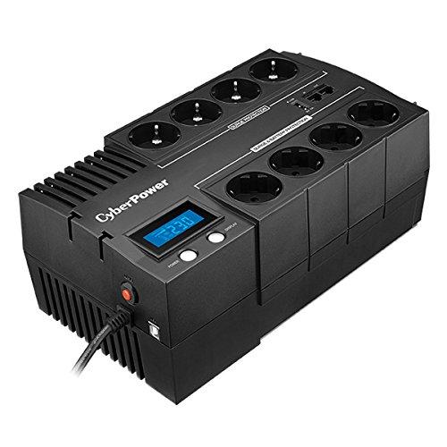 SAI CYBERPOWER BR1200ELCD 1200VA/720W Salidas 8*SCHUKO USB Panel LCD Formato Bloque