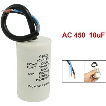 Fixapart - Condensador 8.0Uf / 450 V + Tierra: Amazon.es: Electrónica